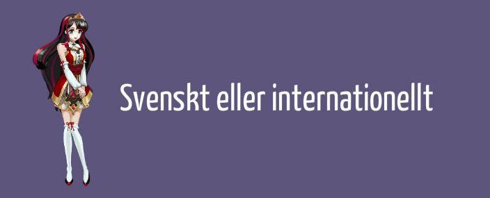 Svenskt eller internationellt casino
